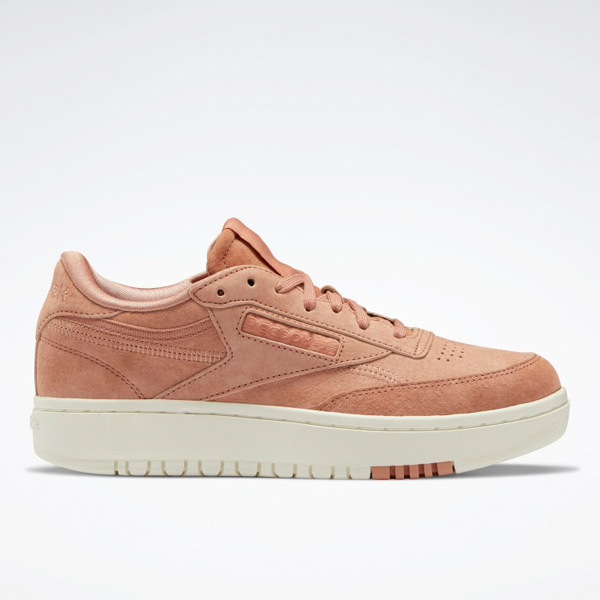 Reebok Women's Club C Double Court Shoes in Brown Clay