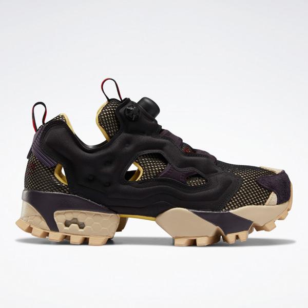 Reebok Unisex Instapump Fury Trail Retro Running Shoes in Black