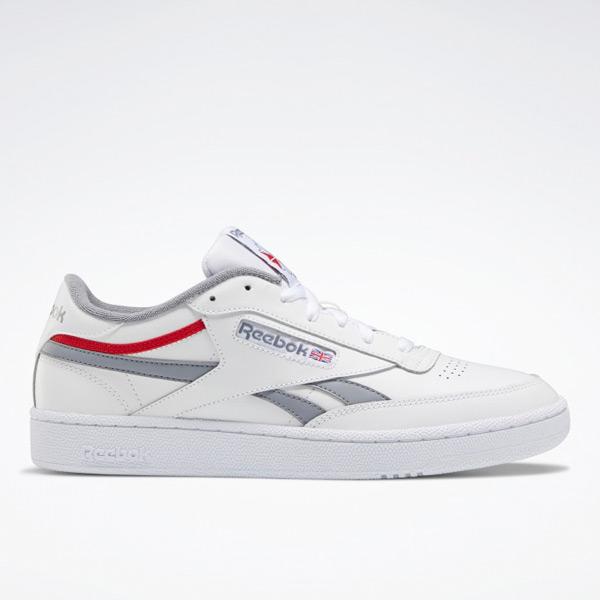 Reebok Men's Club C Revenge Court Shoes in White / Grey