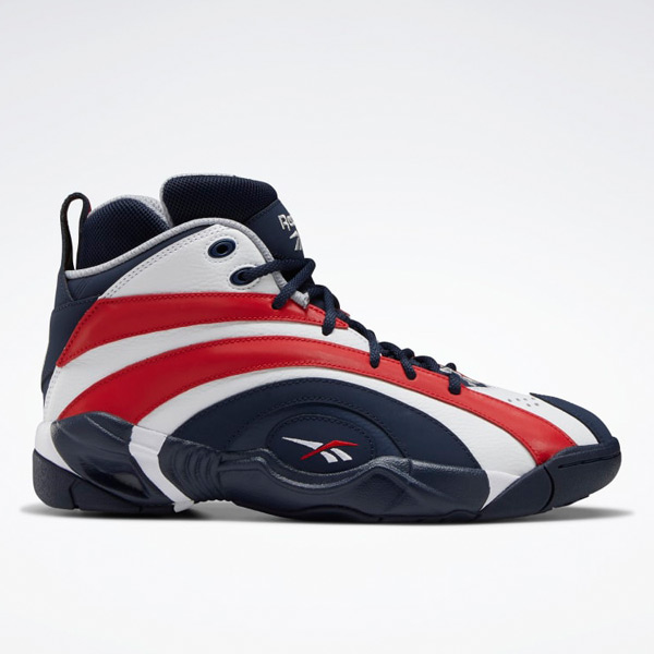 Reebok Unisex Shaqnosis Basketball Shoes in Navy/ White/ Red