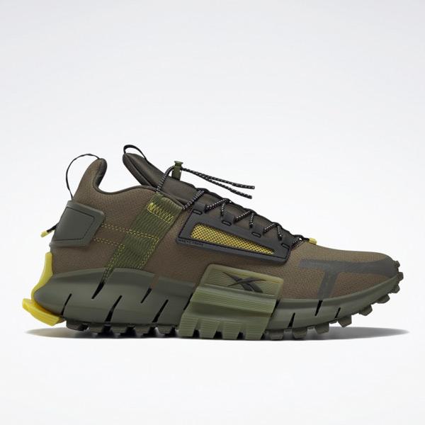 Reebok Unisex Zig Kinetica Edge Lifestyle Shoes in Army Green