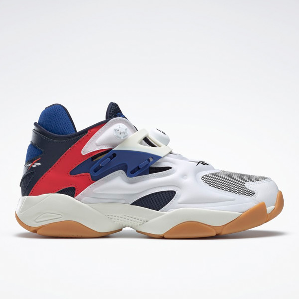 Reebok Pump Court Unisex Shoes in White / Navy / Red