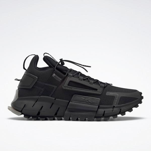 Reebok Unisex Zig Kinetica Edge Lifestyle Shoes in Black