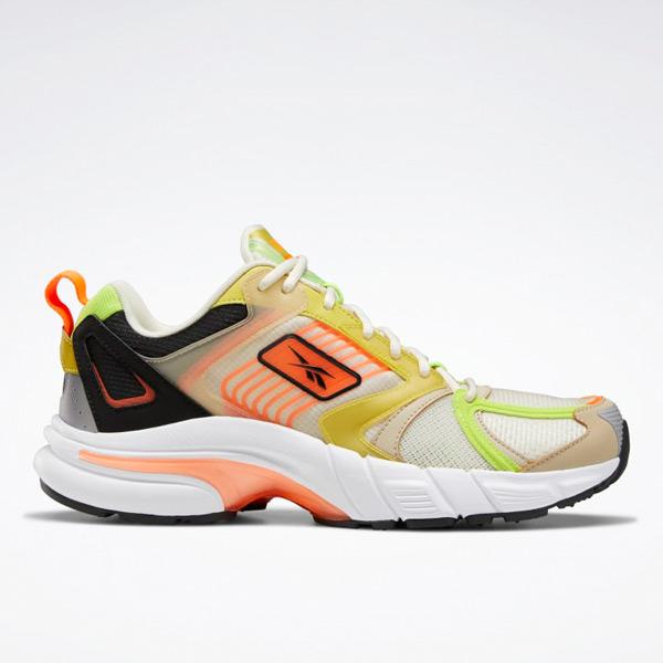 Reebok Unisex Premier Running Shoes in White / Yellow