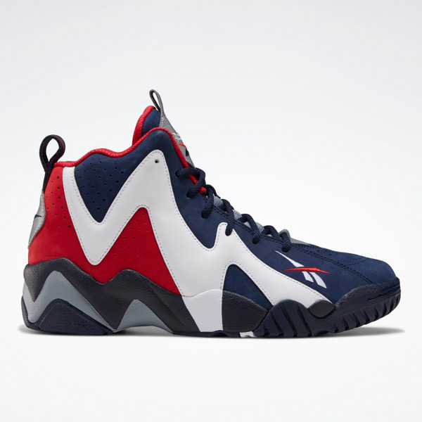 Reebok Kamikaze II Men's Basketball Shoes in Navy / White / Red