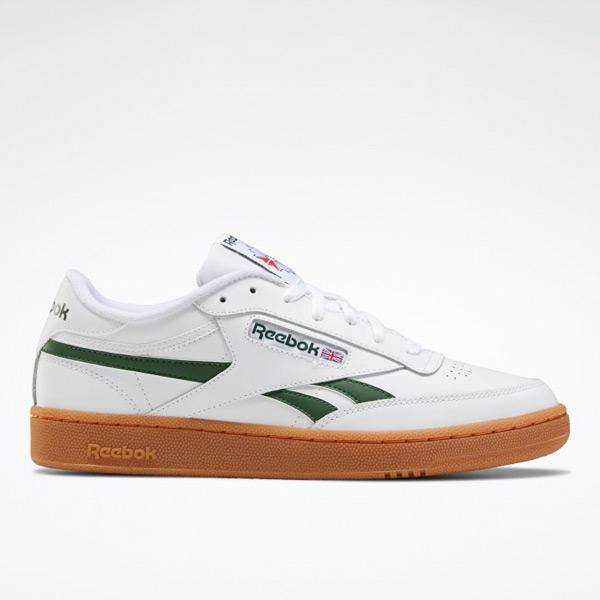Reebok Men's Club C Revenge Court Shoes in White / Green / Gum