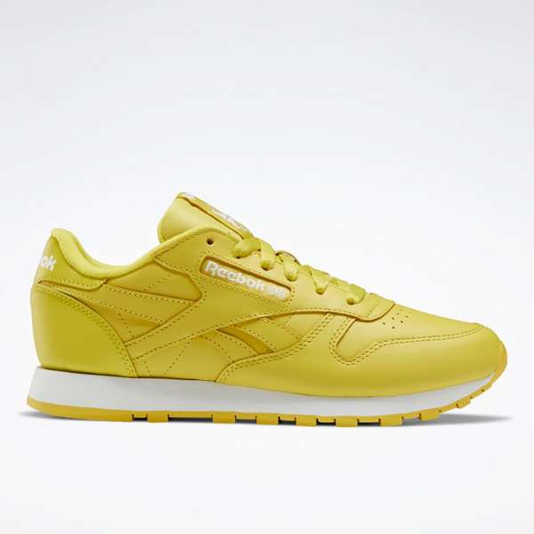 Reebok Classic Leather Women's Running Shoes in Yellow