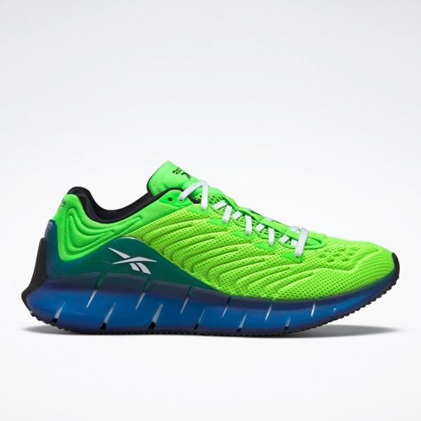 Reebok Unisex Zig Kinetica Grade School Kids Lifestyle Shoes in Solar Green