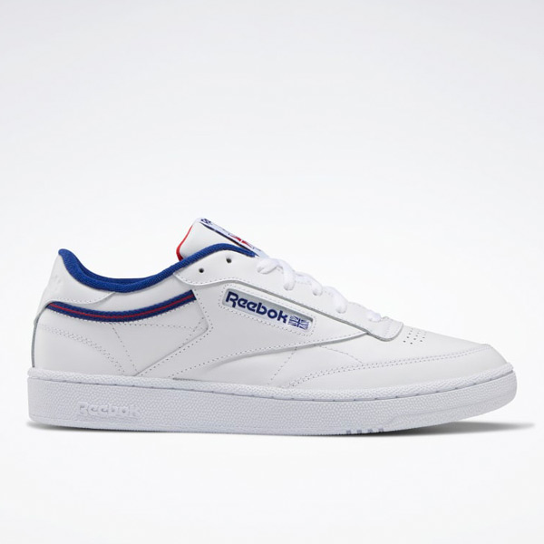 Reebok Club C 85 Men's Court Shoes in White / Blue