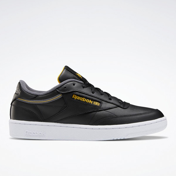 Reebok Club C 85 Men's Court Shoes in Black / Gold
