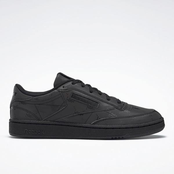 Reebok Très Rasché Club C 85 Unisex Court Shoes in Black