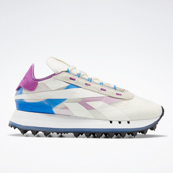 Reebok Women's Legacy 83 Lifestyle Shoes in White / Blue