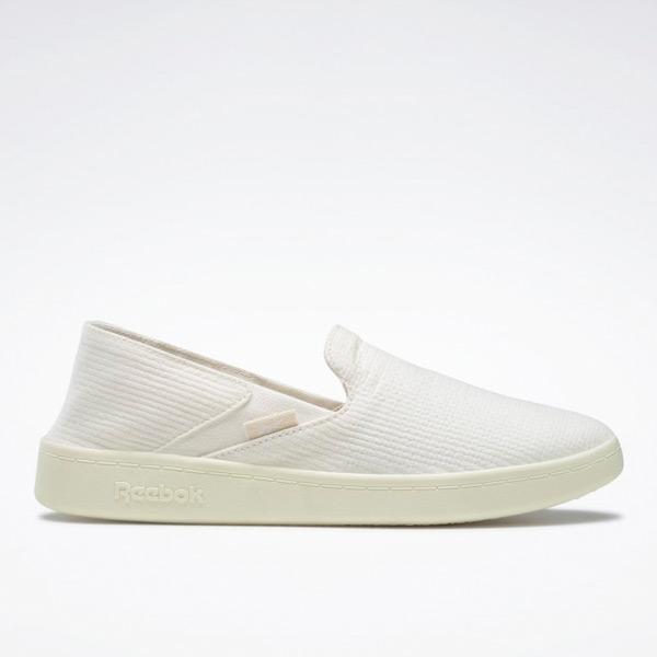 Reebok Cotton & Corn Women's Slip-On Walking Shoes in Chalk