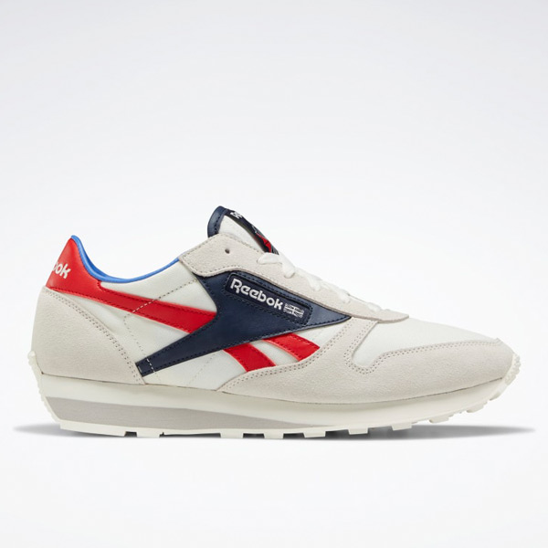 Reebok Classic Leather AZ Unisex Retro Running Shoes in White / Navy / Red
