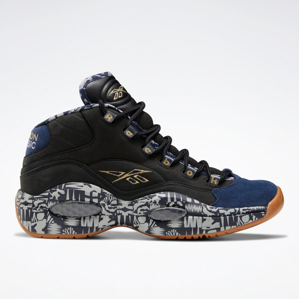 Reebok Unisex Question Mid Basketball Shoes in Black / Navy