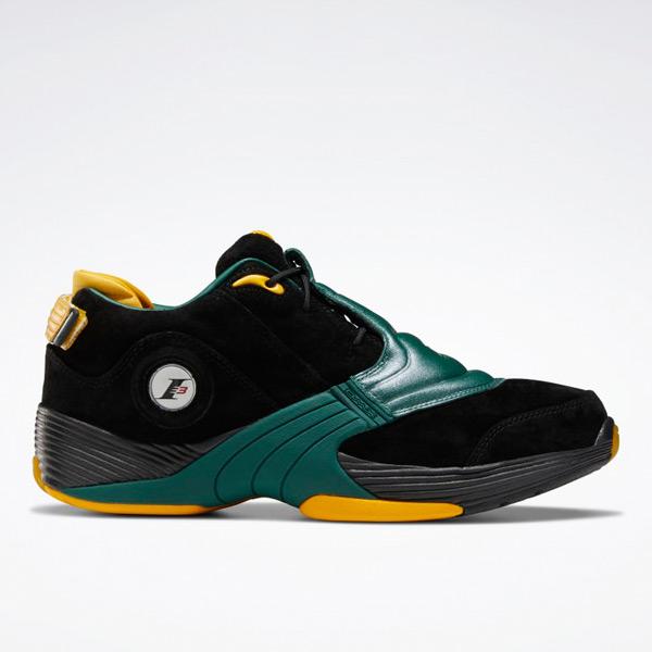 Reebok Unisex Answer V Basketball Shoes in Black / Dark Green