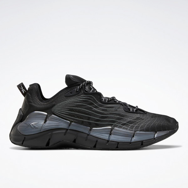Reebok Unisex Zig Kinetica II Lifestyle Shoes in Black / Grey