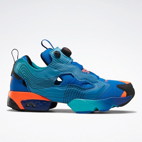 Reebok Unisex Chromat Instapump Fury Retro Running Shoes in Blue