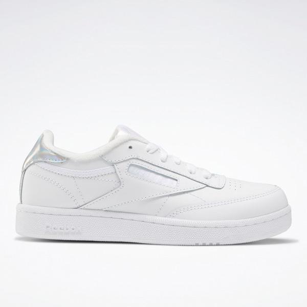 Reebok Unisex Club C Kids Court Shoes in White