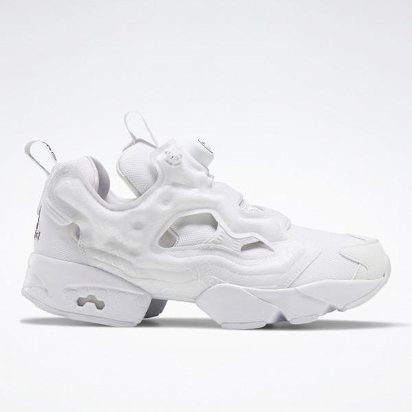 Reebok Unisex BlackEyePatch Instapump Fury OG Retro Running Shoes in White