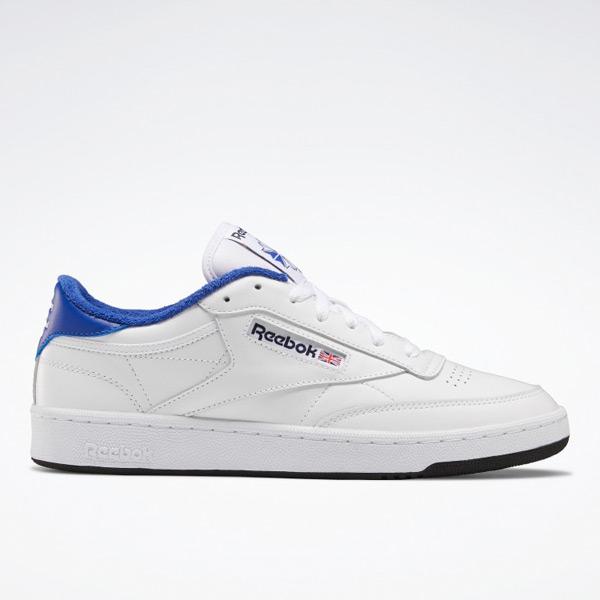 Reebok x Eric Emanuel Club C 85 Men's Court Shoes in White / Blue
