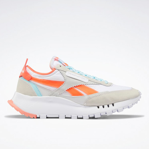 Reebok Classic Leather Legacy Women's Lifestyle Shoes in White / Orange