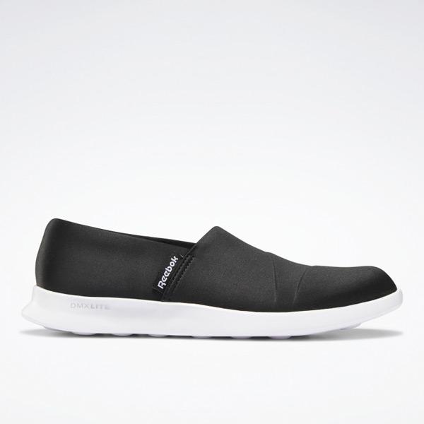Reebok Reestroll DMX Lite Women's Slip-On Walking Shoes in Black