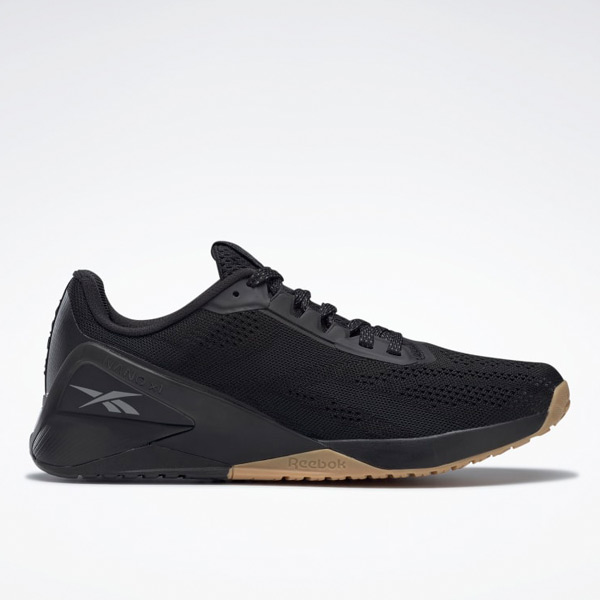 Reebok Nano X1 Men's Cross, HIIT Training Shoes in Black / Gum