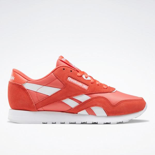 Reebok Classic Nylon Women's Lifestyle Shoes in Orange Flare
