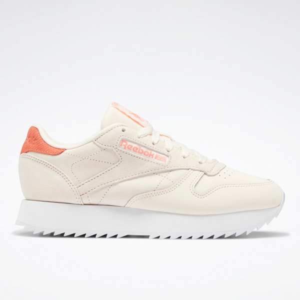 Reebok Women's Classic Leather Ripple Lifestyle Shoes in Ceramic Pink