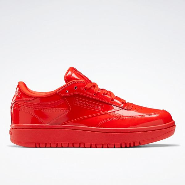 Reebok Cardi B Club C Double Women's Lifestyle Shoes in Instinct Red