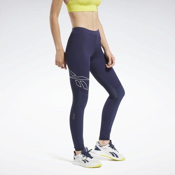 Reebok Women's United by Fitness Training Compression Tights in Navy