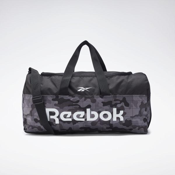 Reebok Unisex Training Active Core Grip Duffel Bag in Black / Camo