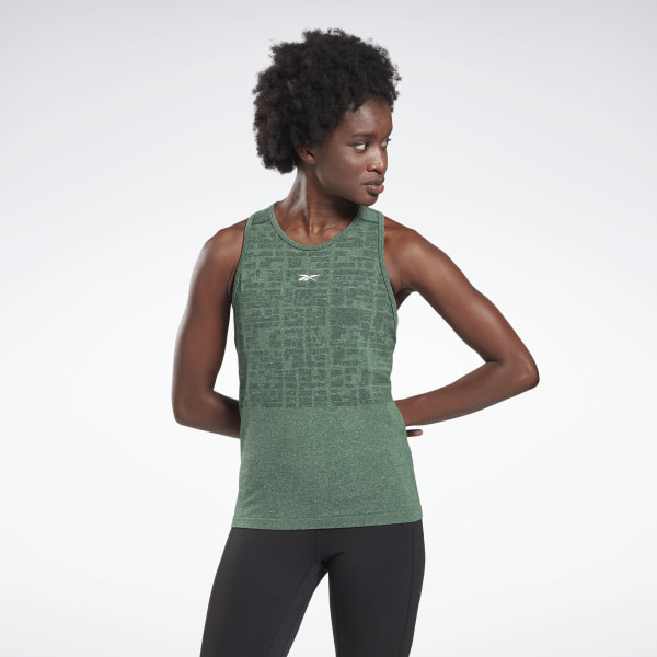 Reebok LES MILLS® Myoknit Seamless Women's Studio Tank Top in Green