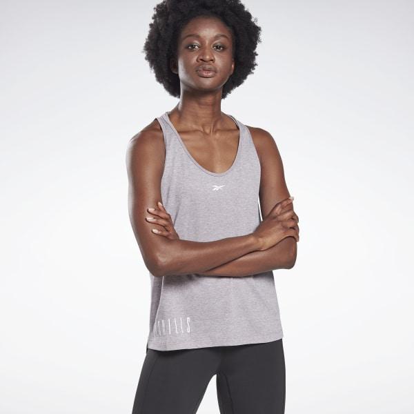 Reebok LES MILLS® ACTIVCHILL+COTTON Women's Studio Tank Top in Grey
