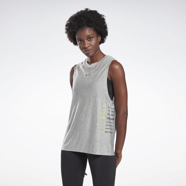 Reebok LES MILLS® Women's Studio Muscle Tank Top in Grey