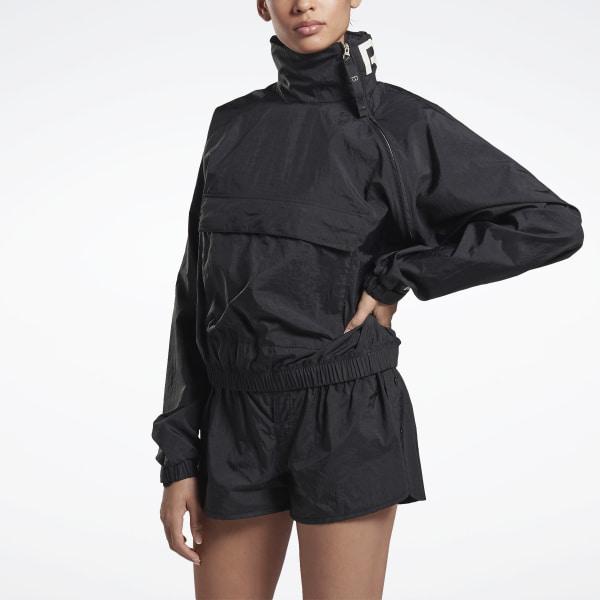 Reebok Women's VB Woven Crew Jacket in Black