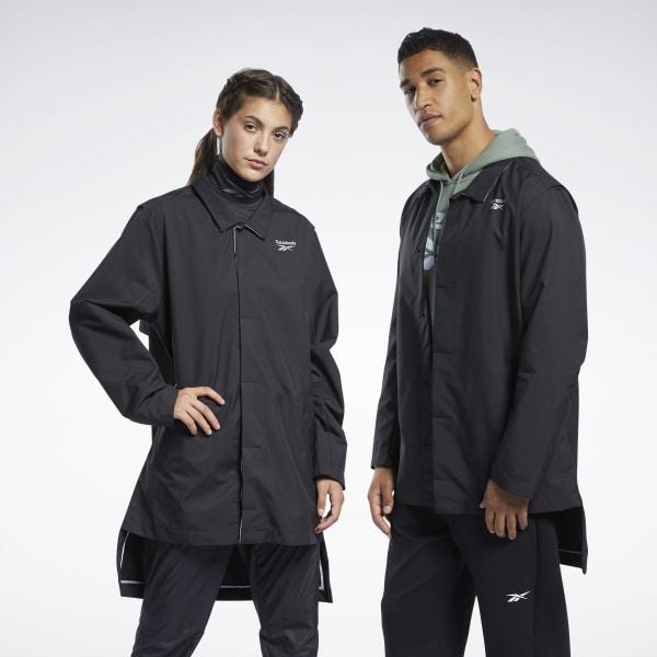 Reebok Unisex Training Outerwear Coat in Black