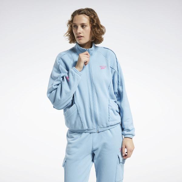 Reebok Washed Denim Women's Track Jacket in Sheer Blue