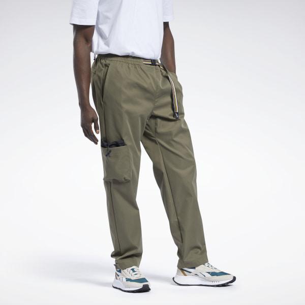 Reebok Classics Men's Camping Pants in Army Green
