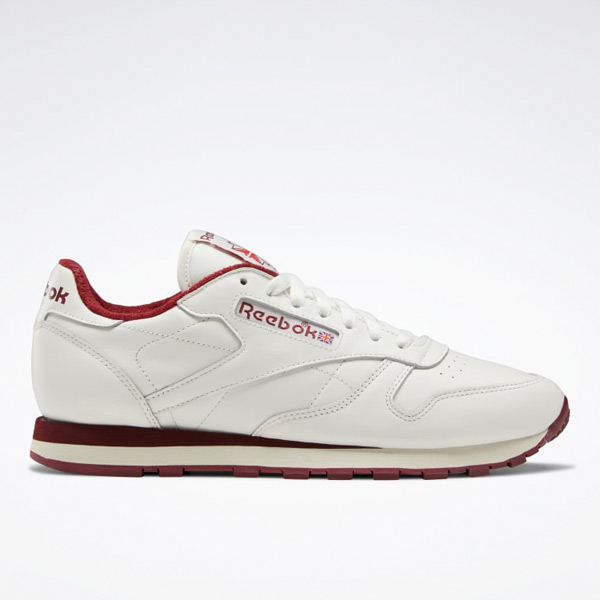 Reebok Men's Classic Leather Lifestyle Shoes in Chalk / Red