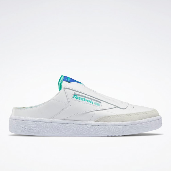 Reebok Women's Lifestyle Club C Laceless Mule Shoes in White