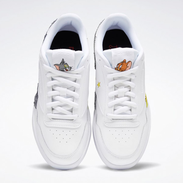 Reebok Club MEMT Tom and Jerry Men's Court Shoes in White