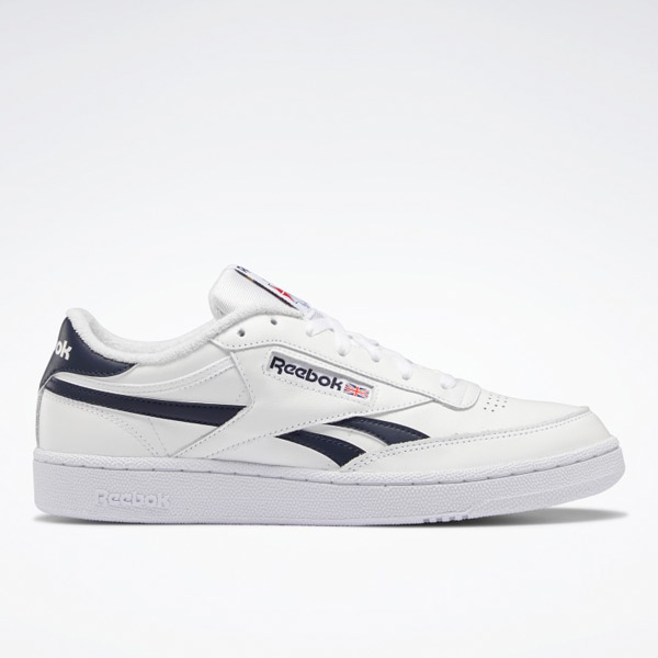 Reebok Men's Club C Revenge Court Shoes in White / Navy