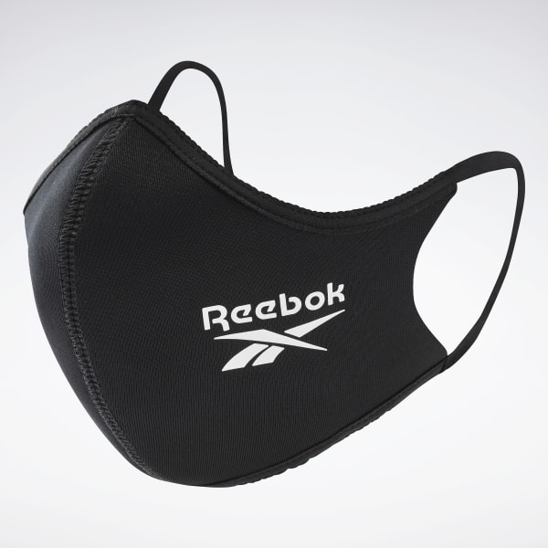 Reebok Unisex Face Cover Large 3-Pack in Black