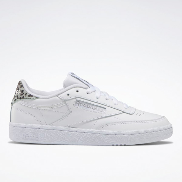 Reebok Women's Club C 85 Court Shoes in White / Silver