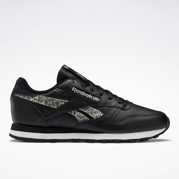 Reebok Classic Leather Women's Lifestyle Shoes in Black / White