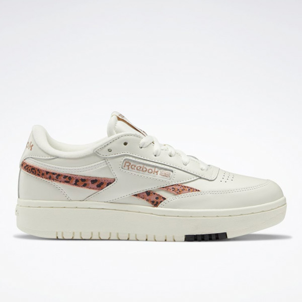 Reebok Women's Club C Double Court Shoes in Chalk / Rose Gold
