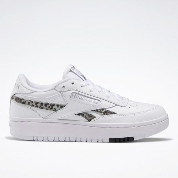 Reebok Women's Club C Double Court Shoes in White / Silver