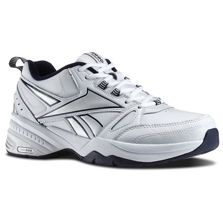 Reebok Royal Trainer MT Men's Walking Shoes in White / Reebok Navy / Pure Silver
